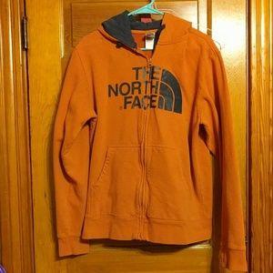 Men's Orange/Blue The Northface Zip Up Hoodie